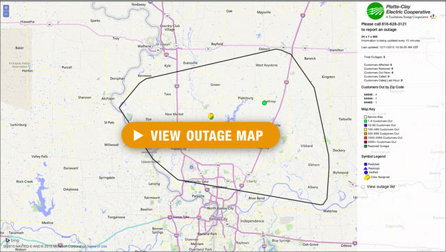 Launch PCEC Area Outage Map