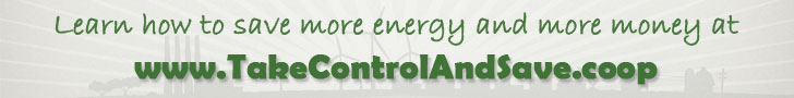 Save energy save money - horizontal web banner