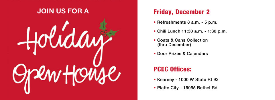 PCEC Holiday Open House
