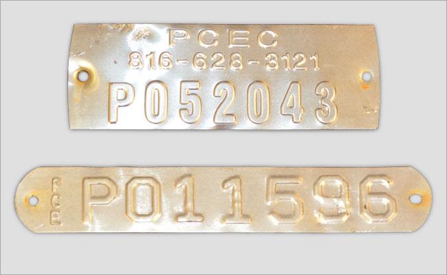 PCEC Street Light Tag Styles