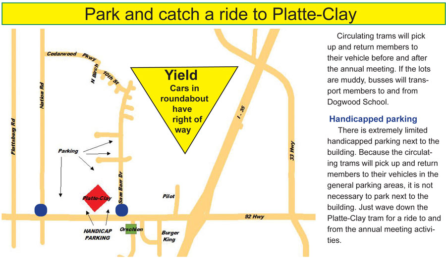 PCEC Annual Meeting Parking And Transportation » Platte-Clay